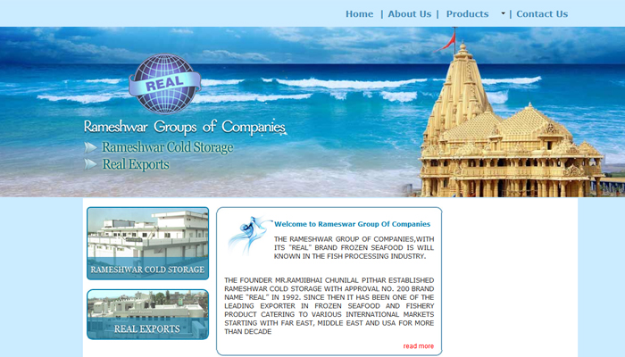 Frozen Seafoods products from gujarat gidc veraval